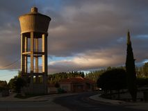 Water tower. At santibanez de la isla (leon Stock Photos