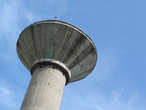 Water tower. Upview Royalty Free Stock Image
