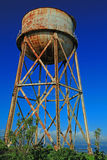 Water Tower of Alcatraz Island Stock Images