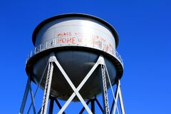 Water Tower at Alcatraz Island Federal Penitentiary Royalty Free Stock Image