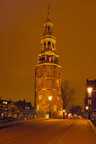 Water tower in Amsterdam in  Netherlands at night Stock Images
