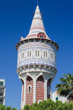 Water Tower in Barcelona Spain Stock Image