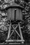 Water tower in black and white Stock Image