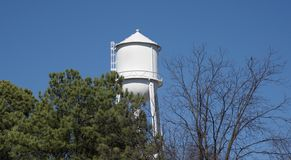 Water tower blank Royalty Free Stock Photo