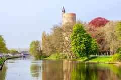 Water tower and canal Royalty Free Stock Image