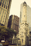 Water Tower in Chicago Royalty Free Stock Photo