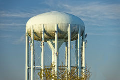 Water tower in the deep blue sky Stock Photography