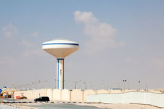Water tower in Doha, Qatar. Water tower in the city of Doha, Qatar, Middle East Stock Images