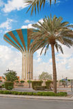 Water tower. Famous water tower in the Riyadh city, Saudi Arabia Royalty Free Stock Photography