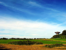 Water Tower In Field Royalty Free Stock Photos