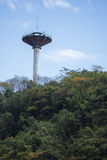 Water tower on a hilltop. Stock Photo