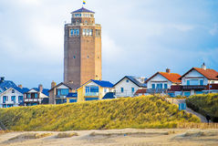 Water tower with houses Royalty Free Stock Image
