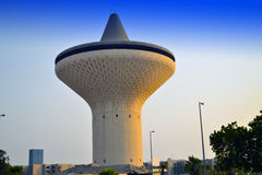 Water Tower in Jeddah. Water Tower at sunset in King Khaled Street, the center of Jeddah Stock Images