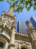 Water tower and John Hancock center Stock Photo