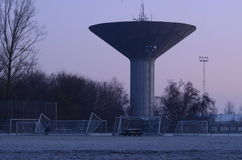 Water tower koege 1972 in cobenhagen denmark Royalty Free Stock Images