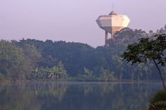 Water tower landmark stands high above all else Stock Photos