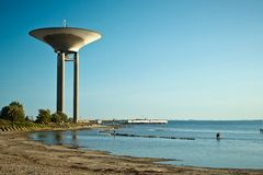 Water tower in Lanskorna, Sweden Royalty Free Stock Images