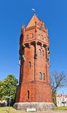 Water tower (1905) in Malbork, Poland Stock Image
