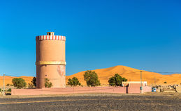 Water tower in Merzouga village at Sahara Desert, Morocco. Water tower in Merzouga village at Sahara Desert - Morocco Stock Photography
