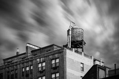 Water tower on New York City building Royalty Free Stock Photos