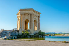 Water Tower in Peyrou garden in Montpellier Royalty Free Stock Images