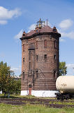 Water tower at railway station Tayshet Stock Photo