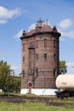 Water tower at railway station Tayshet Stock Photo