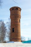Water tower of red brick Royalty Free Stock Photo