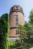 Water tower of red brick in Kolobrzeg in Poland Stock Images