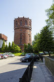 Water tower of red brick in Kolobrzeg, Poland Stock Image