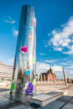 Water Tower on Roald Dahl Pass in Cardiff Bay Stock Photos