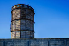 Water tower on a roof Royalty Free Stock Image