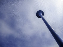 Water Tower and Sky with Clouds Royalty Free Stock Photo