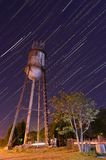 Water Tower and Star Trails Royalty Free Stock Photos