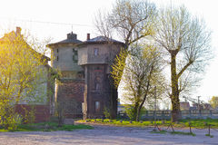 Water tower at station railway Gumbinnen, Gusev Royalty Free Stock Image