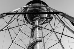 Water Tower. Structural lines of the water towers strength Stock Photos