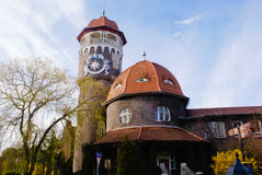 The Water Tower in Svetlogorsk Stock Images
