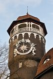 Water tower - symbol of the city Svetlogorsk (until 1946 Rauschen). Kaliningrad oblast, Russia. Old german water tower - symbol of the city Svetlogorsk (until royalty free stock images