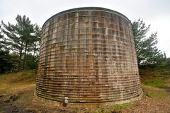 Water tower or tank with bands Royalty Free Stock Image