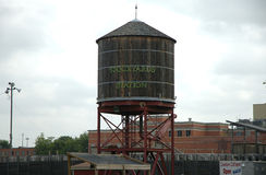 A water tower in Texas. Water tower at Fort Worth Stock Yards in Texas stock images