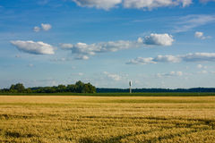 Water Tower in wheat field Royalty Free Stock Image