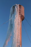 Water tower winter ice Stock Photography