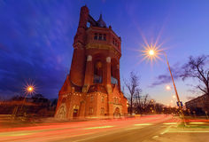 Water tower of Wroclaw, in the evening. Stock Photography