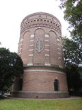 Water Tower 1893, Hilversum, Netherlands. Water Tower at Hilversum, Netherlands, Europe. Build in 1893. Design by Compagnie Générale des Conduites d Eau, Liege Royalty Free Stock Photos