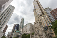 Water towers in Chicago, Illinois Stock Photos