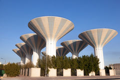 Water towers in Kuwait Royalty Free Stock Photo