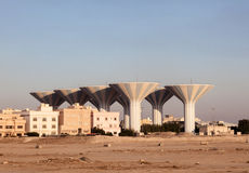 Water towers in Kuwait, Middle East Stock Images