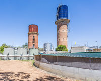 Water Towers and treatment works. Rochester, Victoria, Australia Royalty Free Stock Photography