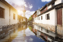 Water town close to Shanghai,China Stock Images