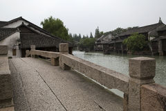 Water town Wuzhen architectures Royalty Free Stock Photos